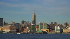 View of the Midtown Manhattan from Hoboken. Stock Footage