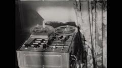 Reel to Reel Audio Recorder 1955 Stock Footage