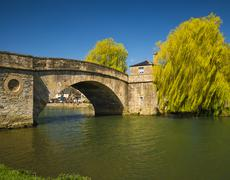 Halfpenny Bridge over the River Thames at Lechlade - stock photo