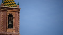 Typical spanish bell tower Stock Footage
