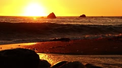 Waves in the Sunset - Trickling Stream 2 Stock Footage