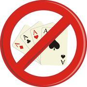 No Gambling cards - stock illustration