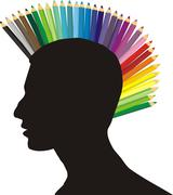 Stock Illustration of Punk of colored pencils