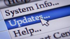 "Press button ""Updates"" in menu Stock Footage"
