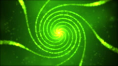 Particle Spiral Swirl - Loop Green - stock footage