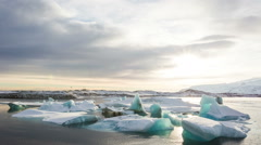 Iceland, Jokulsarlon Glacier Lagoon video composition timelapse Stock Footage