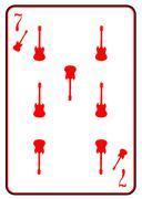 Red Horned Guitar Seven - stock illustration