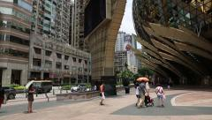 Tourists at the Grand Lisboa Casino in Macao, China - stock footage