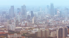 Cityscape of Downtown Bangkok, Thailand with Many High-rise Buildings - stock footage