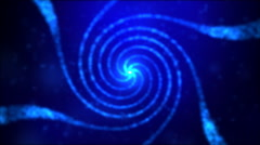 Particle Spiral Swirl - Loop Blue - stock footage