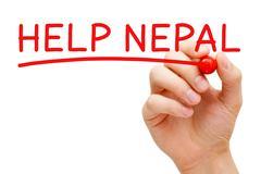 Help Nepal Red Marker - stock illustration