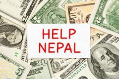 Help Nepal Donation Concept Stock Photos