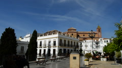 A typical Andalusian village square Stock Footage