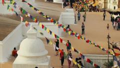 The Boudhanath Stupa, Kathmandu, Nepal - stock footage