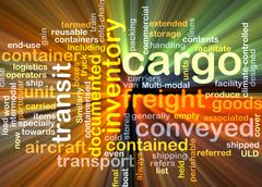 cargo wordcloud concept illustration glowing - stock illustration