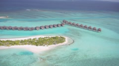 Aerial view of beautiful Maldives islands Stock Footage