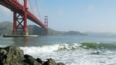 Golden Gate Surfer Stock Footage