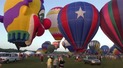 Hot air balloon festival crowd Stock Footage