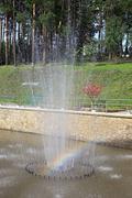 Fountain in a Sanatorium Russia - stock photo
