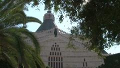 Church of the Annunciation aka Basilica of the Annunciation, Nazareth Stock Footage
