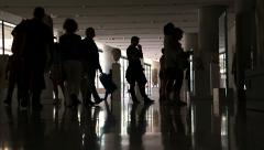 Customers Visiting The Exhibits In The Museum: people visiting the museum Stock Footage