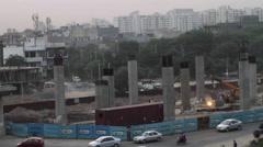 A construction site of Delhi rapid metro Stock Footage