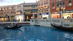 View of the famous Venetian shopping mall, Macao Stock Footage
