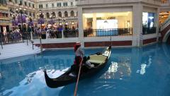 View of the Venetian shopping mall, Macao Stock Footage
