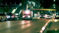 Ambulance at Night in City Street Stock Footage