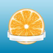 Orange slice Stock Illustration
