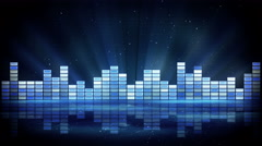 blue shiny equalizer loopable background 4k (4096x2304) - stock footage