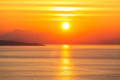 Greece sunset Stock Photos