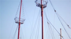 Mast and sky Stock Footage