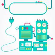 Machine off Stock Illustration