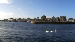 Galway port, day, stable - Ireland - stock footage