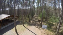 2.7k drone crashes in forest Stock Footage
