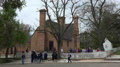 Colonial Williamsburg Virginia main street historic home 4K 034 Stock Footage
