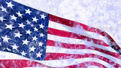 Grunge U.S.A. flag, for Fourth of July American Independence Day etc Stock Footage