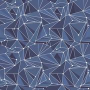 Indigo Geometric Vector Pattern Stock Illustration