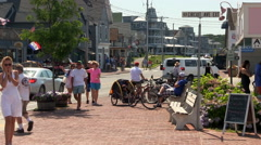 Vacationers in Oak Bluffs Stock Footage