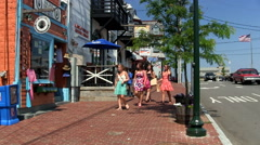 Summertime female shoppers Stock Footage