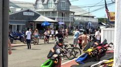 Bike rental shop in Oak Bluffs Stock Footage