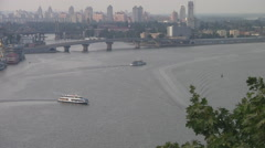UKRAINE. KIEV. AUGUST 2011: Panorama View - stock footage