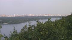 UKRAINE. KIEV. AUGUST 2011: Panorama View - stock footage