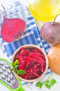 beet salad - stock photo
