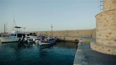 Beautiful seascape. The harbor. Stock Footage