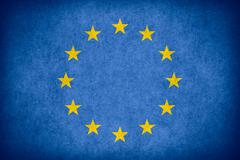 flag of European Union - stock illustration