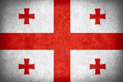 Stock Illustration of flag of Georgia