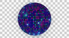 Led Disco Ball 4K 02 Stock Footage