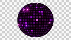 Led DiscoBall 4K 04 - stock footage